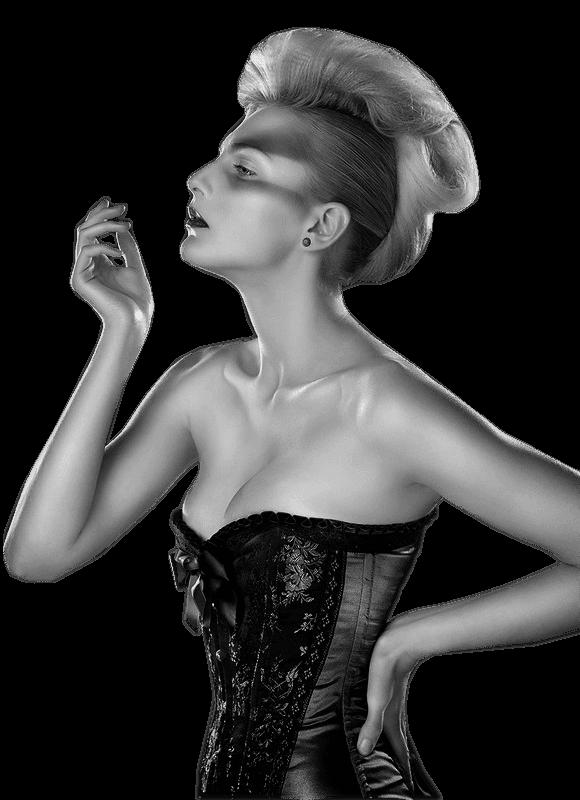 Mes tubes femmes en noir et blanc