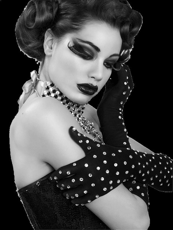 Mes tubes femme en noir et blanc