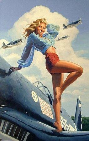 pin,up affiches des années 60 !!
